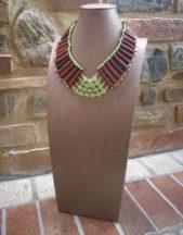 Collana artigianale con Agate Verdi