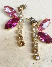 Orecchini artigianali con cristalli Swarovski