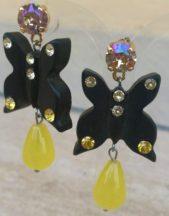 Orecchini artigianali a forma di farfalla