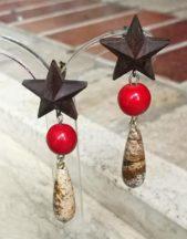 Orecchini artigianali a forma di stella