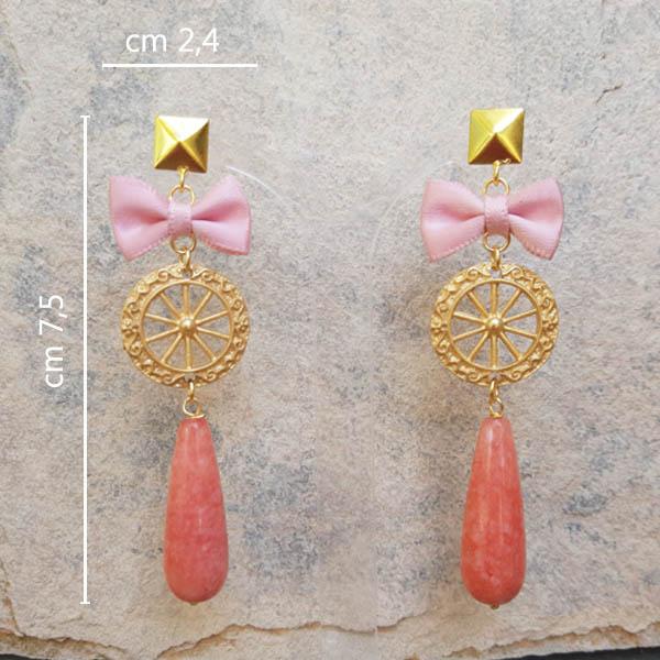 ore fiocco rosa misure